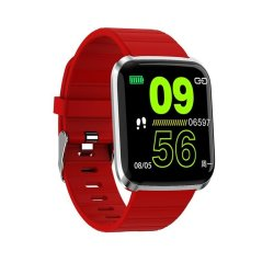 Bakeey 116 Pro 1.3INCH Large View Heart Rate Blood Pressure Monitor Multi-sport Modes Smart Watch - Red