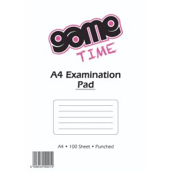 Game - A4 Exam Pad 100 Sheets