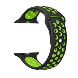 Black And Green 42MM S m Nike Style Strap Band For Apple Watch