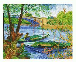 Diamond Dotz DD9.036 Diamond Painting Kit: Fishing In Spring Van Gogh Assorted 50 X 40CM