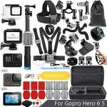 Vamson Accessories For Gopro Hero 6 5 Action Camera Mounts Waterproof Case Bike Car Backpack Clip Mount For Gopro Hero 6 HERO5