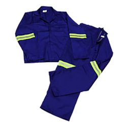 Pinnacle Welding & Safety Royal Blue Reflective Conti Suite Safety Overalls SIZE-32