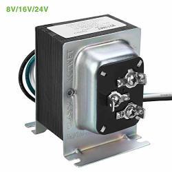 Doorbell Transformer Ul Certified Hardwired Door Chime Transformer Compatible With Ring Video Doorbell Pro 8V 16V 24V Ac 20-30 Va Multi-output Zmodo Smart Greet Wifi Doorbell