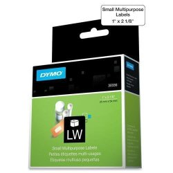 "Dymo Multipurpose Labels Small 1""X2-1 8"" 500 RL White 30336"
