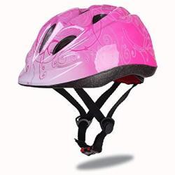 Kuyou Toddler Bike Helmet Multi-sport Lightweight Safety Helmets For Cycling skateboard scooter Skate Inline Skating rollerblading Protective Gear Suitable Boys girls 3-8 Year Old Pink