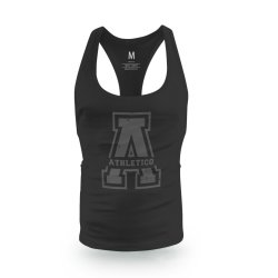 Athletico large A-Logo Cutback Vest in Black & Charcoal