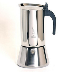 Bialetti Venus Stainless Steel Stovetop Espresso Maker Moka Pot - 6 Cup