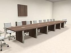 Modern Boat Shaped 22' Feet Conference Table OF-CON-CP34