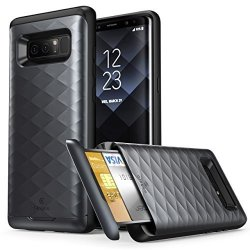 separation shoes 17607 e5983 Galaxy Note 8 Case Clayco Argos Series Premium Hybrid Protective Wallet  Case For Samsung Built-in Credit Card id Card Slot Black | R | Cellphone ...