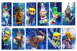 """Zelda Legend Of MINI Christmas Tree Ornament Set - Plastic Shatterproof Ornaments Ranging From 1"""" To 2.5"""" - Perfect For Office Tree Or Kids Tree"""