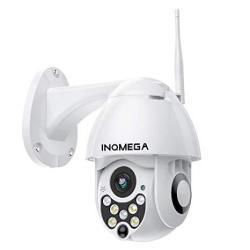 Inqmega Ptz Camera Outdoor 1080P Wifi Security Ip Camera Pan Tilt Dome Camera Motion Alerts 50FT Night Vision Waterproof IP66 Su