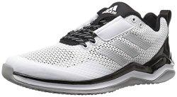 Adidas Men's Freak X Carbon Mid Cross Trainer White metallic Silver black 9 M Us