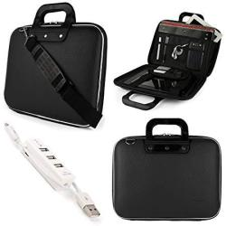 Laptops up to 15.45 inches with 3 Port USB Hub Cady Briefcase Messenger Bag for Toshiba Tecra Series Satellite Series Portege Series