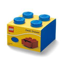 DESK Drawer 4 Knob Blue