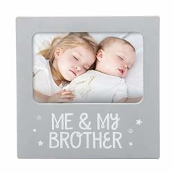 Tiny Ideas 'me & My BrOther' Sentiment Keepsake Frame Gift For BrOther Big BrOther Big Sister Gifts Gray