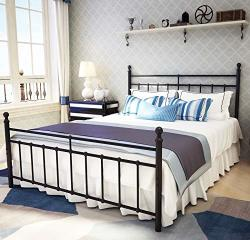 Metal Bed Frame Queen Size With Vintage