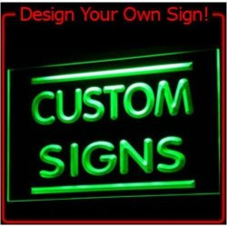 ADV PRO Tm Custom Signs Neon Signs LED Signs Edge Lit Signs Your Own Design 400X300MM Blue