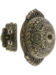 House Of Antique Hardware R-06SE-0900005 Solid Brass Twist Door Bell In Antique Brass