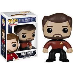Funko Will Riker: Star Trek The Next Generation X Pop Tv Vinyl Figure & 1 Pop Compatible Pet Plastic Graphical Protector Bundle 189 04904 - B