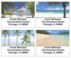 Tropical Beaches Address Labels