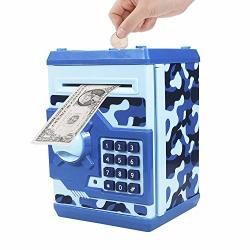 US Coin Cash Piggy Bank Password Money Saving Safe Box Code Kids Birthday Gift