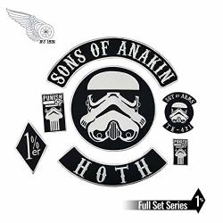 Sewingpatch |sons Of Anakin Stormtrooper Star Wars Iron On Embroidery Patch Sewing On Motorcycle Jacket Patches For Clothes Diy Design By Cusodi