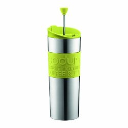Bodum Insulated Stainless-steel Travel French Press Coffee And Tea Mug 0.45-LITER 15-OUNCE Green