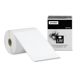 """Dymo 1744907 Black On White Shipping Label - 4"""" Width X 6"""" Length - 1 Roll - Rectangle - 220 ROLL - Thermal Transfer - White"""