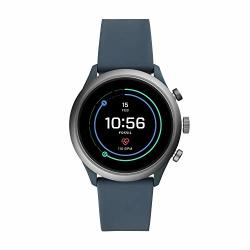 Men's Fossil Gen 4 Sport Heart Rate Metal And Silicone Touchscreen Smartwatch Color: Grey Blue FTW4021