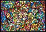 Tenyo Disney All Characters Stained Glass Jigsaw Puzzle 2000 Piece