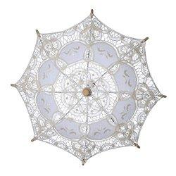 2545f3b27c37 LUOEM Wedding Lace Parasol Umbrella For Bridal Bridesmaid Party Decoration  Photo Props Size S Cream-coloured | R820.00 | Educational | PriceCheck SA