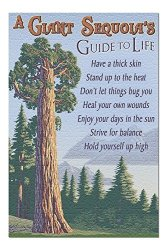 A Giant Sequoia's Guide To Life - Vintage Halftone 20X30 Premium 1000 Piece Jigsaw Puzzle Made In Usa