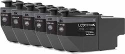 Metro Market Tm Compatible Ink Cartridge Replacement For Brother LC3013 LC3011 Black 6 Pack