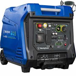 Westinghouse IGEN4500DF Dual Fuel Portable Inverter Generator 3700 Rated & 4500 Peak Watts Gas & Propane Powered Electric Start