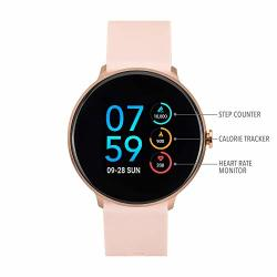ITouch Sport Round Smartwatch With Waterproof Technology Heart Rate Monitor Multi-sports Mode Pedometer For Android And Ios Smart Phones - Solid Silicone Strap Blush