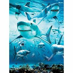 Uryy Diy Diamond Painting Shark 5D Diamond Painting Kit Diamond Painting Full Drill Square Diamond Painting For Adult Or Kid Home Decor