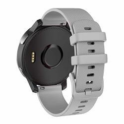 Isabake Replacement Band For Garmin Vivoactive 4 22MM Silicone Strap Compatible With Samsung Galaxy Watch 46MM GEAR S3 Frontier classic Polar Vantage M Quick Release Wristband