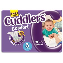 Cuddlers - Jumbo Diapers Size 3 5-9KG 70S