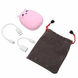 Bicaquu Portable Hand Warmer MINI Power Bank USB Rechargeable With Cartoon For Home Office Use Pink Rabbit