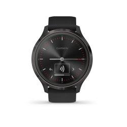 Mac Shack V Vomove 3 Series Hybrid Smartwatch - Black Silicone With Slate Hardware