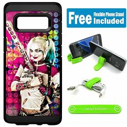 Limited Editions For Samsung Galaxy Note 8 Defender Rugged Hard Cover Case - Harley Quinn Real Circles