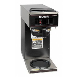 Bunn 13300.0011 VP17-1BLK Pourover Coffee Brewer With One Warmer Black