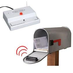 Mail Chime Wireless Transmitter & Audible Arrival Alert Receiver W Bright LED