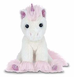 Bearington Collection Bearington Lil' Dreamer White And Pink Plush Stuffed Animal Unicorn 8 Inches
