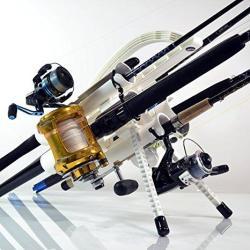 Rod-runner Pro Fishing Rod Rack - White Portable Fishing Rod Holder Caddy