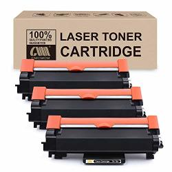 Cmcmcm 3PK Compatible Toner Cartridge Replacement For BrOther TN760 TN730 Work For BrOther DCP-L2550DW MFC-L2710DW HL-L2390DW MFC-L2750DW HL-L2370DWXL HL-L2370DW MFC-L2750DWXL Printer With Chip