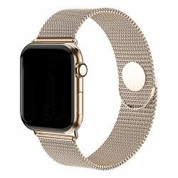 Bea Fashion Compatible With Apple Watch Band 38MM 40MM Stainless Steel Replacement Strap For Watch Series 4 Series 3 Series 2 Series 1 Retro Gold