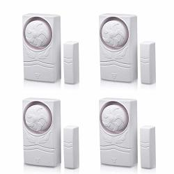 Wsdcam Magnetically Triggered Alarms For Doors Or Windows Home Security Window door Alarm Kit Loud 110 Db Alarm 4 Pack