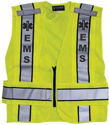 Reflective Traffic Safety Vest - Ems - Ansi 207-2006 Compliant - Med - Extra-small - Medium
