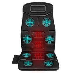 Naipo Back Massager Massage Chair Vibrating Car Seat Cushion For Back Neck And Thigh With 8 Motor Vibrations 4 Modes 3 Speed Hea